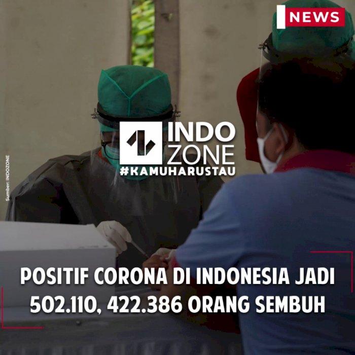Positif Corona di Indonesia Jadi 502.110, 422.386 Orang Sembuh