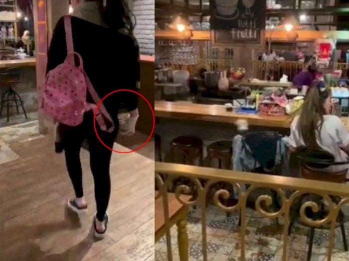 Detik-detik Wanita Kesal Siramkan Cairan Tinja ke Pelakor Diduga Owner Restoran Surabaya
