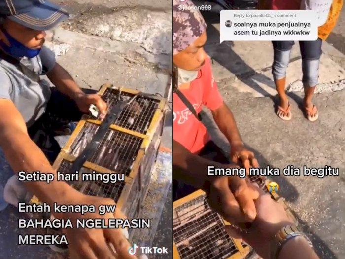 Pria ini Beli Burung dan Dilepas Ke Alam di Depan Penjual, Netizen: Hewan Butuh Kebebasan