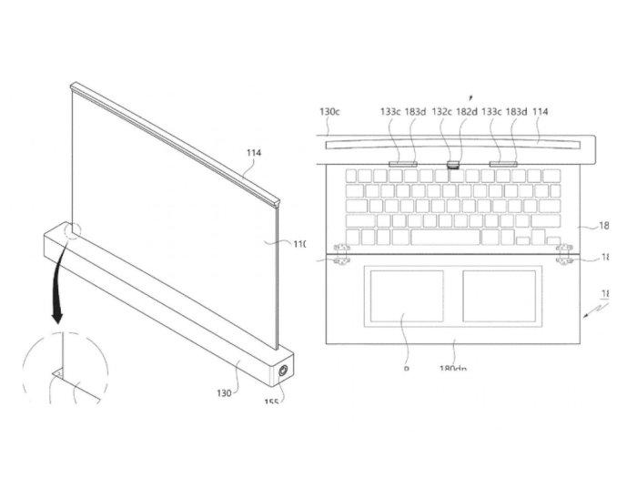 LG Patenkan Laptop Berukuran 17 Inci dengan Konsep Layar Gulung!