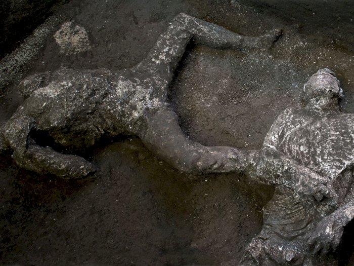 FOTO: Penemuan Sisa Dua Orang yang Tewas dalam Letusan Vesuvius di Pompeii