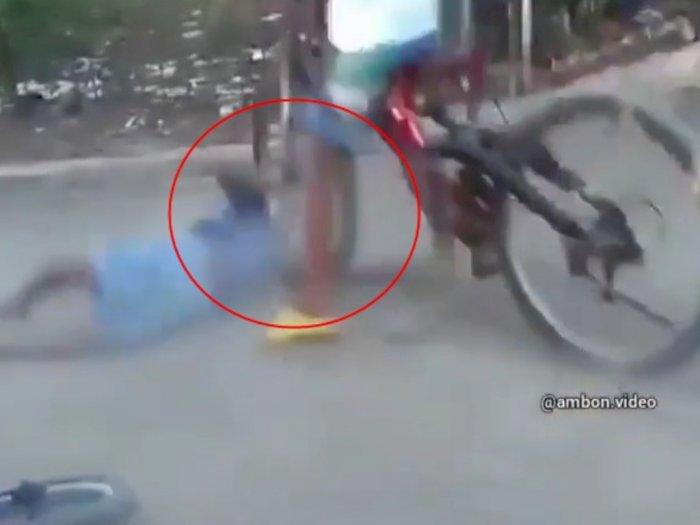 Viral Video Bocah Bertengkar Gegara Kepala Hampir Terlindas Ban Sepeda