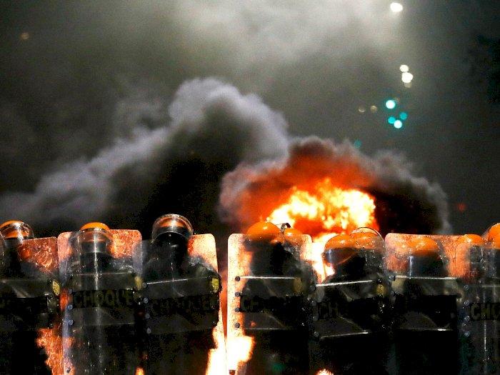 FOTO: Protes Melawan Rasisme Setelah Pria Kulit Hitam Dipukul Sampai Mati di Brasil