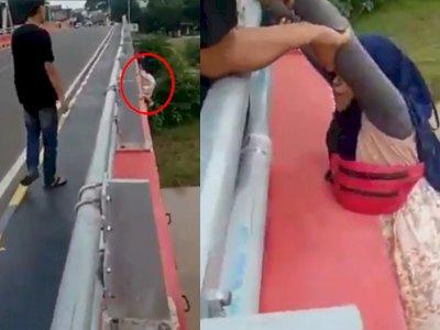 Gak Jadi Bunuh Diri di Jembatan, Wanita Ini Teriak Minta Tolong, 'Cepetan Udah Gak Kuat'
