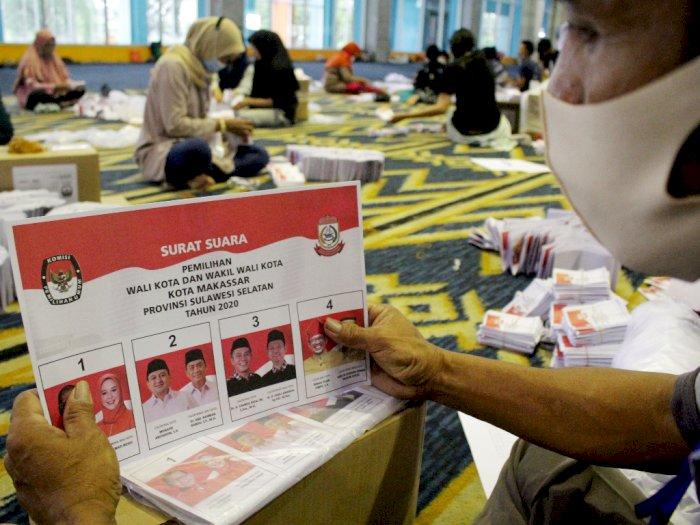 FOTO: Pelipatan Surat Suara Pilkada Makassar