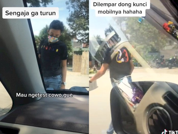 Viral Wanita Ngarep Pacar Bukain Pintu Biar Romantis, Netizen Malah Salfok ke Celana Cowok