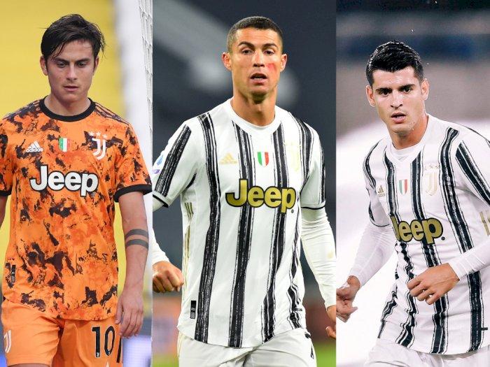 Bereksperimen di Lini Depan, Pirlo Berniat Mainkan Dybala, Ronaldo dan Morata Bersamaan