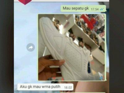 Viral Pasangan Kekasih Bertengkar di WA Gegara Sepatu, Nyesek Baca Isi Chatnya