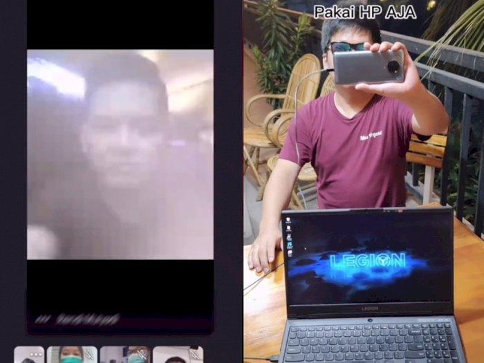 Kamera Laptop Kamu Jelek? Pria ini Bagikan Tips Hape Jadi Webcam Untuk Webinar