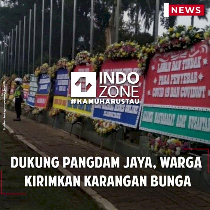 Dukung Pangdam Jaya, Warga  Kirimkan Karangan Bunga