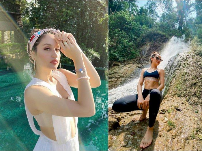 Pamer Foto di Bawah Air Terjun, Perut Sixpack Cinta Laura Jadi Sorotan Netizen: Roti Sobek
