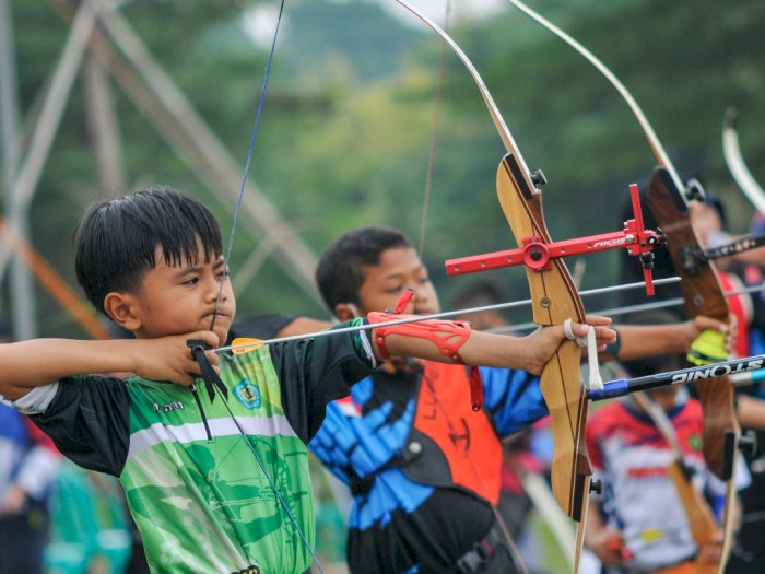 FOTO: Kompetisi Panahan Antar Pelajar di Bekasi