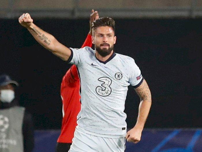 Gol Giroud Pastikan Kemenangan Chelsea Atas Rennes, Lampard: Dia Profesional yang Hebat