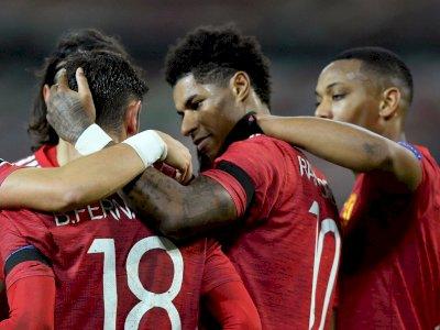 FOTO: Liga Champions, Manchester United Bantai Istanbul BB 4-1