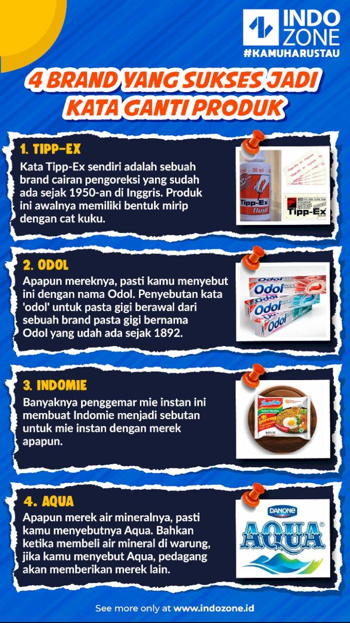 4 Brand yang Sukses Jadi Kata Ganti Produk