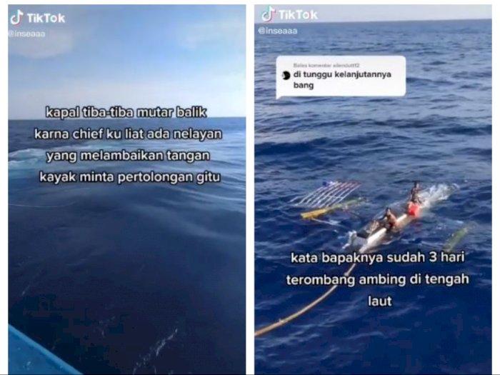 Viral Aksi Dramatis Kru Kapal Selamatkan 2 Nelayan yang Terombang Ambing di Laut