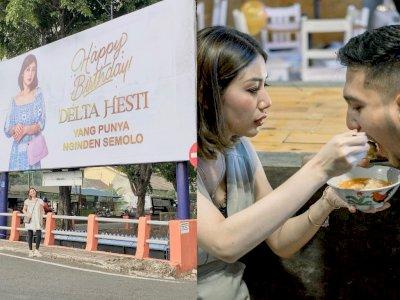 So Sweet! Pria Ini Ucapkan Ulang Tahun ke Istri Lewat Baliho & Ajak Makan di Pinggir Jalan
