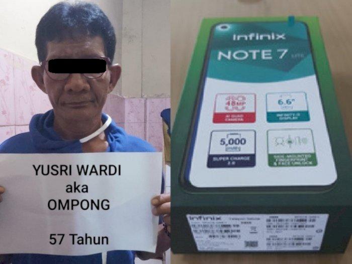 Curi Hp di Halte Transjakarta, Seorang Kakek Bernama Yusri Ini DItangkap Polisi