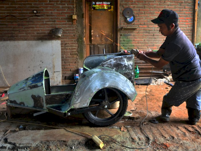 FOTO: Jasa Modifikasi Sepeda Motor Difabel