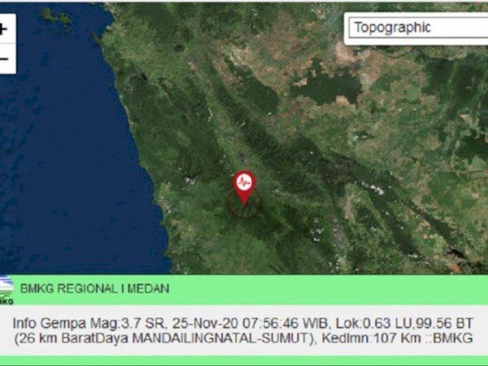 BMKG: Karo dan Mandailing Natal Diguncang Gempa Pada Rabu Hari Ini