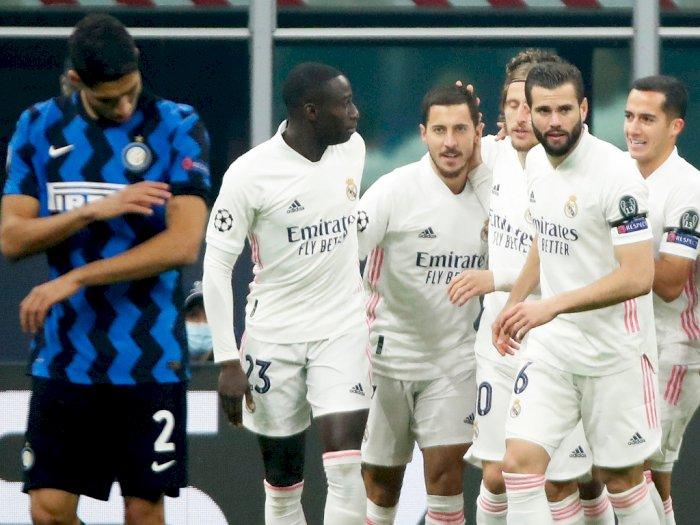 Inter Milan Vs Real Madrid Berakhir 0-2, Hazard Cetak Gol