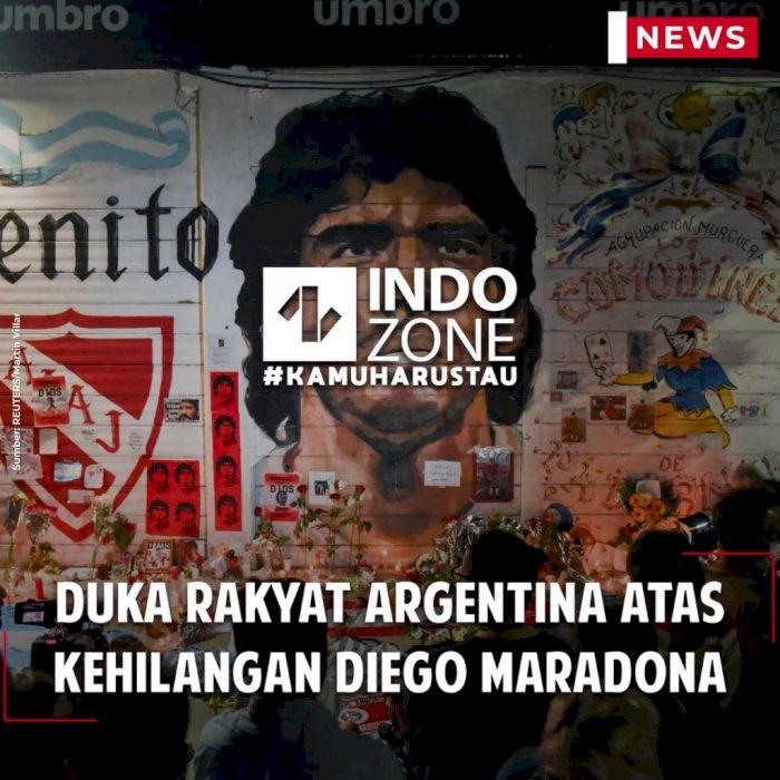 Duka Rakyat Argentina atas Kehilangan Diego Maradona
