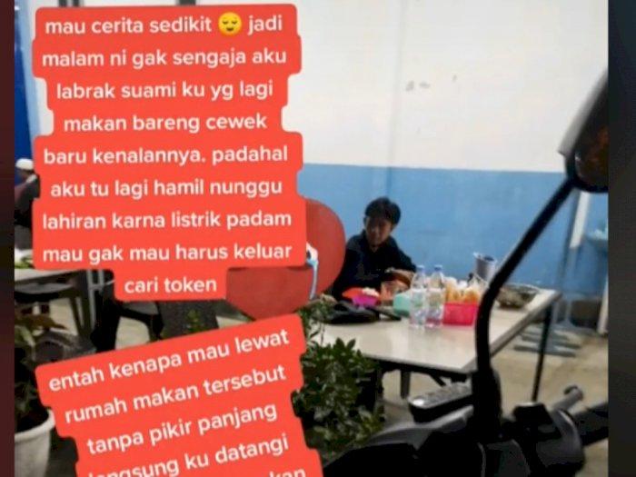 Istri Hamil Tua Nekat Labrak Suami dan Pelakor di Rumah Makan, Endingnya Bikin Nyesek