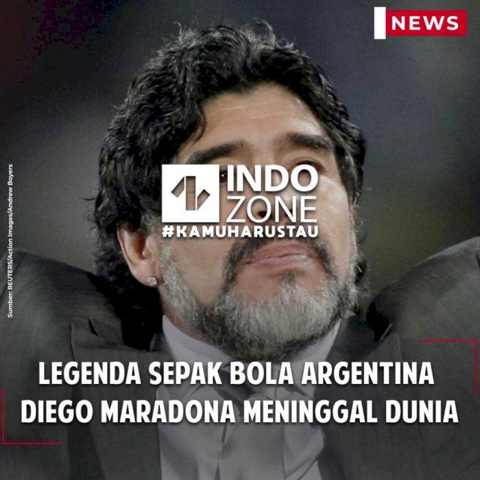 Legenda Sepak Bola Argentina  Diego Maradona Meninggal Dunia