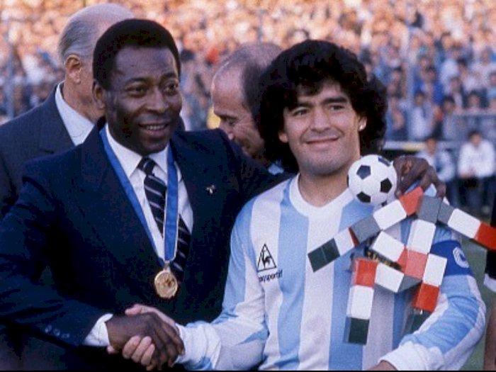 Berduka Atas Kepergian Maradona, Pele: Suatu Hari Kita akan Main Bola di Langit