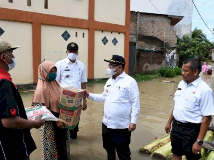 Curah Hujan Tinggi, 4.570 Keluarga di Serdang Bedagai Terdampak Banjir