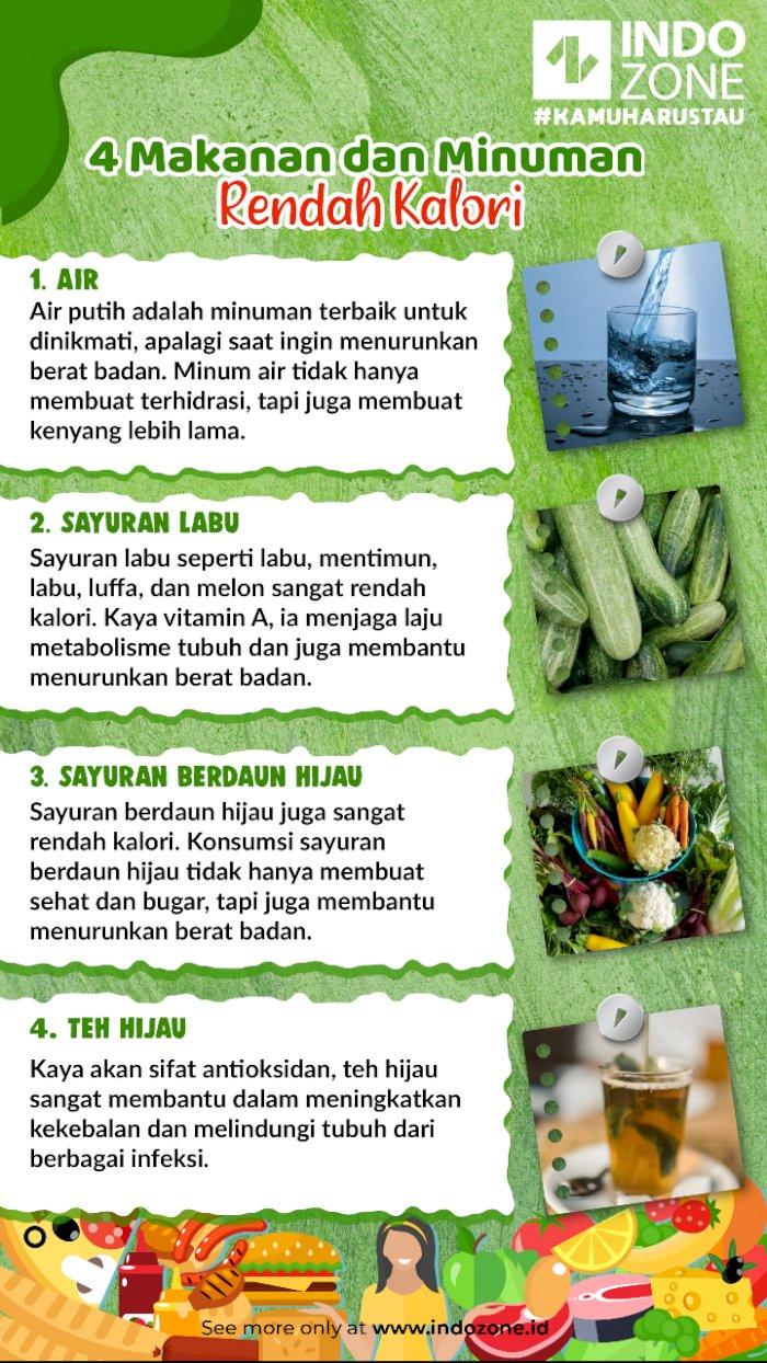 4 Makanan dan Minuman Rendah Kalori