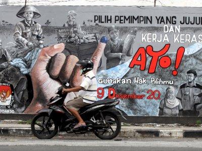 FOTO: Mural Sosialisasi Pilkada Serentak 2020