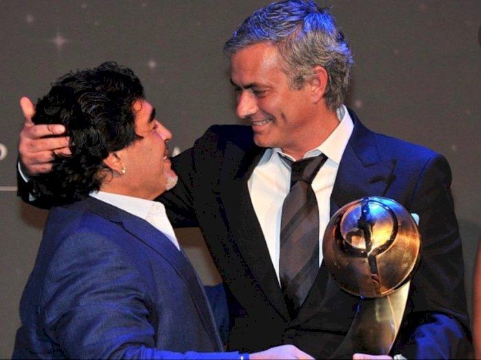 Kenang Kepergian Maradona, Mourinho Rindu Ditelepon Saat Timnya Kalah