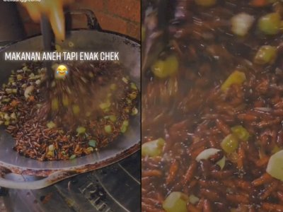 Cewek ini Masakan Unik Dari Kepompong Ulat Jati, Netizen Penasaran dengan Rasanya
