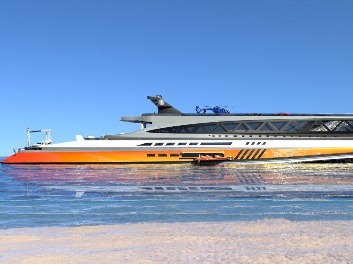 Prodigium, Kapal Pesiar Megah Bak Hiu Raksasa Rancangan Perusahaan Italia
