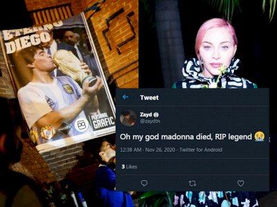Diego Maradona Meninggal Dunia, Netizen Malah Ucapkan 'RIP Madonna'