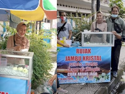 Viral Penjual Rujak Cantik di Tasikmalaya Mirip Orang Arab, Bapak-bapak Antri Membeli
