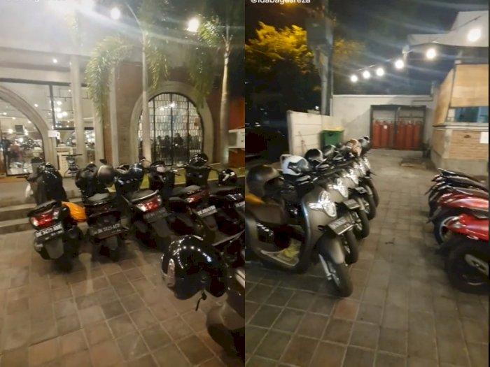 Tukang Parkir ini Susun Rapi Motor Sesuai Jenis & Warnanya, Netizen: Kasih 5 Ribu Ikhlas