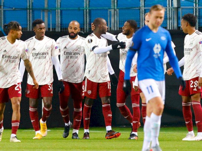 Sempat Imbang di Babak Pertama, Molde vs Arsenal Berakhir 0-3