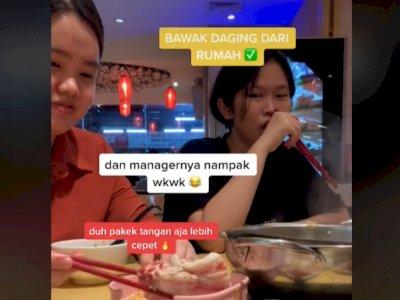 Viral Cewek Makan Sukiyaki di Resto Bawa Daging Sendiri, Ketauan Manajer Restonya