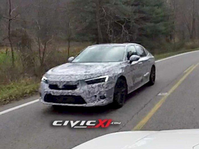 Prototype Mobil Honda Civic 2021 Terlihat Sedang Melaju di Jalanan!