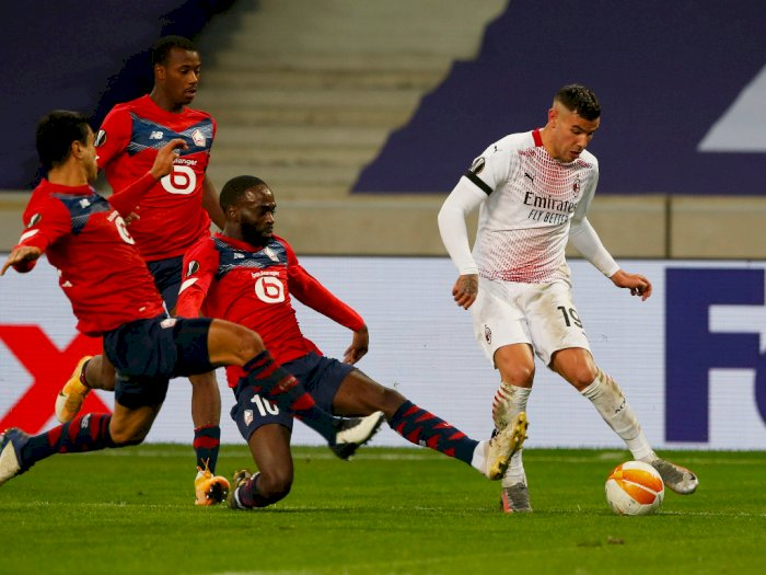 Lille vs AC Milan Berakhir 1-1, i Rossoneri Gagal Amankan Posisi Pertama Grup H Liga Eropa