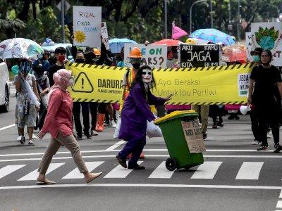 FOTO: Aksi Perlindungan Iklim yang Berkelanjutan di Jakarta