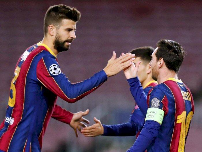 Sesali Hengkangnya Suarez, Pique Harap Messi Bertahan di Barcelona