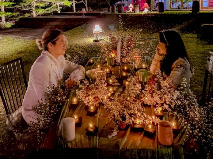 Rayakan 2 Bulan Jadian dengan Tissa Biani, Dul Jaelani Unggah Foto Dinner Romantis