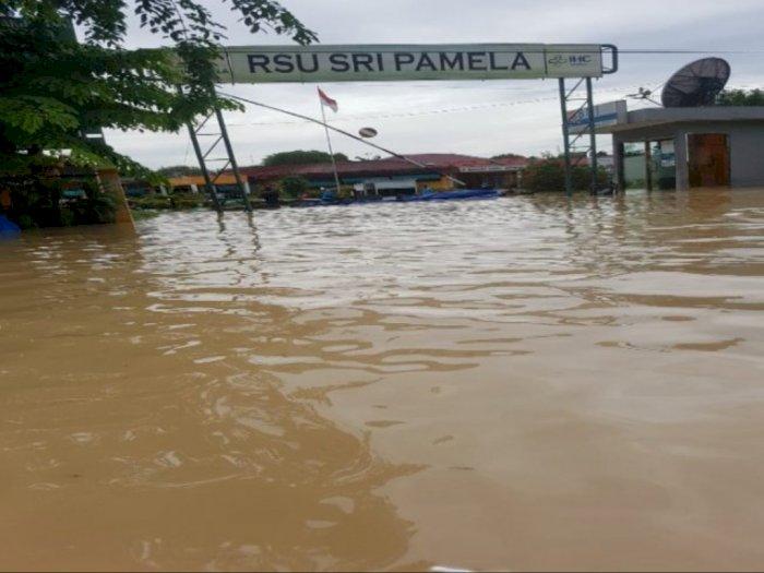 Sungai Padang Meluap, Ribuan Warga Tebingtinggi Ngungsi dan Tinggal di Posko Penampungan