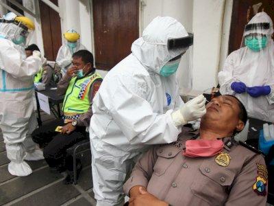 FOTO: Tes Usap Personel Pengamanan Pilkada Surabaya