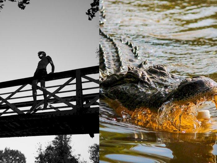 Depresi, Orang Ini Ingin Bunuh Diri Lompat dari Jembatan, Tapi Gak Jadi karena Ada Buaya