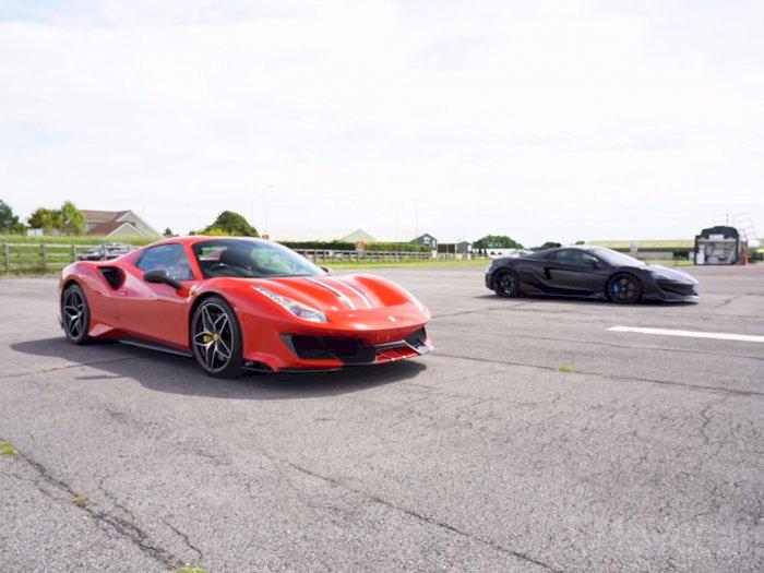 Melihat Pertandingan Drag Race Antara Ferrari 488 Pista dan McLaren 600LT!