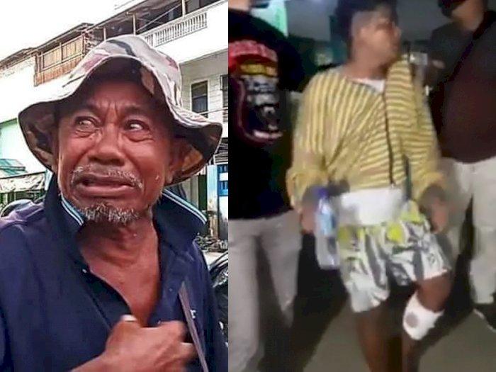 Pelaku yang Jambret Uang Pengemis Telah Ditangkap, Kena Dor Polisi di Kaki Hingga Pincang